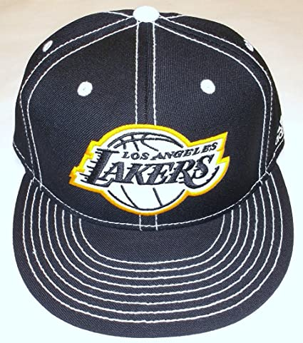 808fdffccb6c90 Image Unavailable. Image not available for. Color: NBA Los Angeles Lakers  Flat Bill Fitted Adidas Hat ...