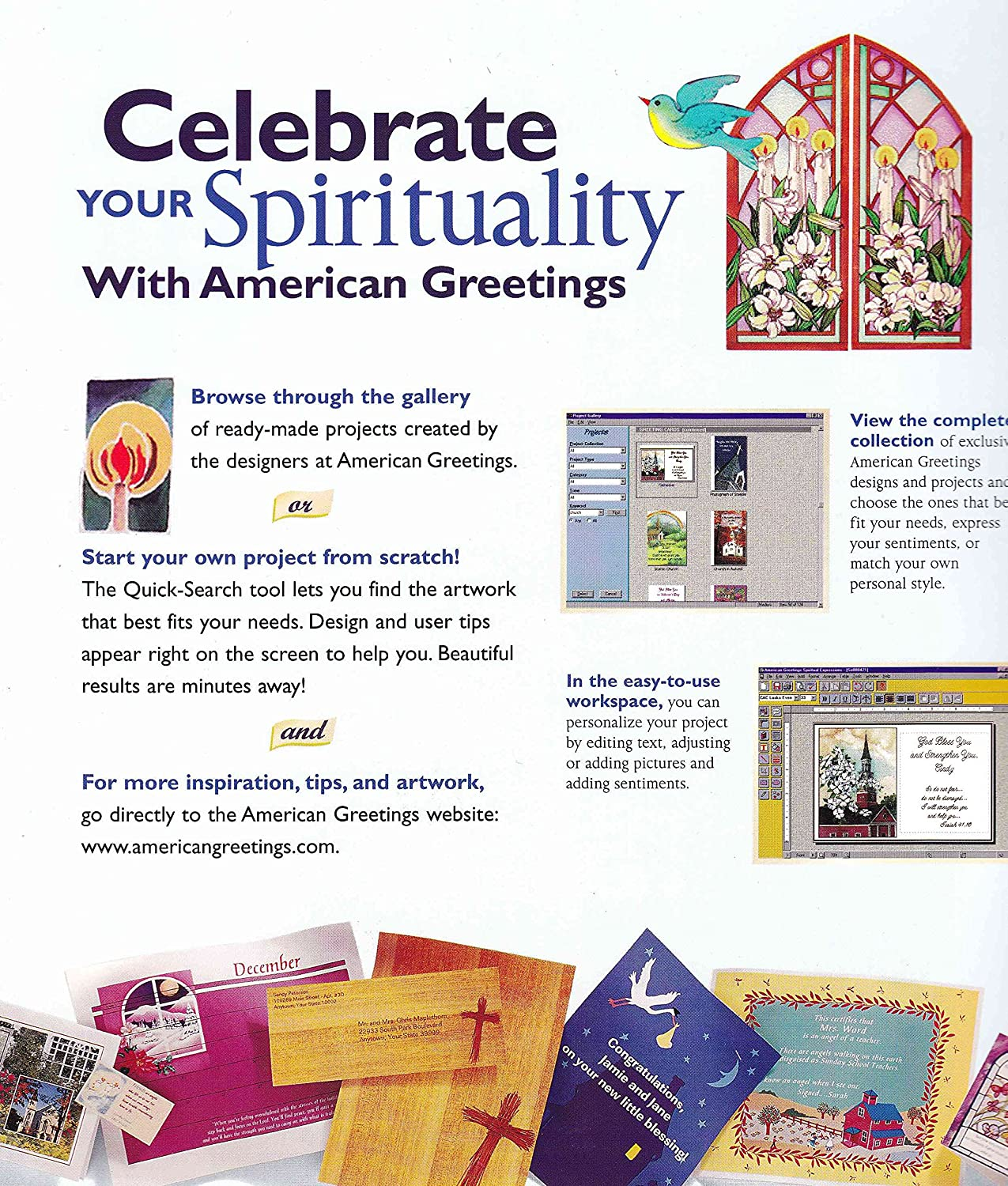Amazon american greetings spiritual expressions windows 95 amazon american greetings spiritual expressions windows 95 98 only m4hsunfo