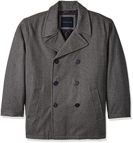 prestanda sportkläder kupongskod utsökt design Tommy Hilfiger Men's Big Wool Melton Classic Peacoat, Light Grey ...