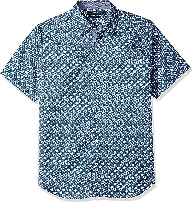 Nautica Hombre W83115 Manga Corta Camisa de Botones - Azul - Small: Amazon.es: Ropa y accesorios
