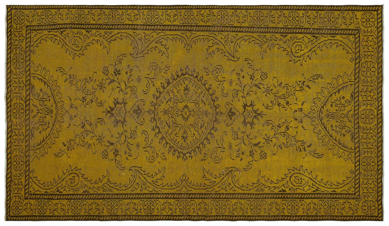 Bespoky ビンテージ 手織 ラグ 黄 大きいサイズ 173 X 304 Cm   B07HN9ZTY7