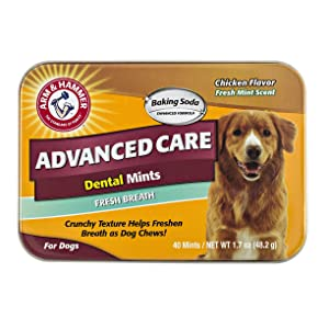 Arm & Hammer Dog Dental Care Fresh Breath Dental Mints | Tasty and Effective to Eliminate Bad Breath, Tartar Buildup, and Whitening Dog's Teeth | 100% Made with Safe Ingredients