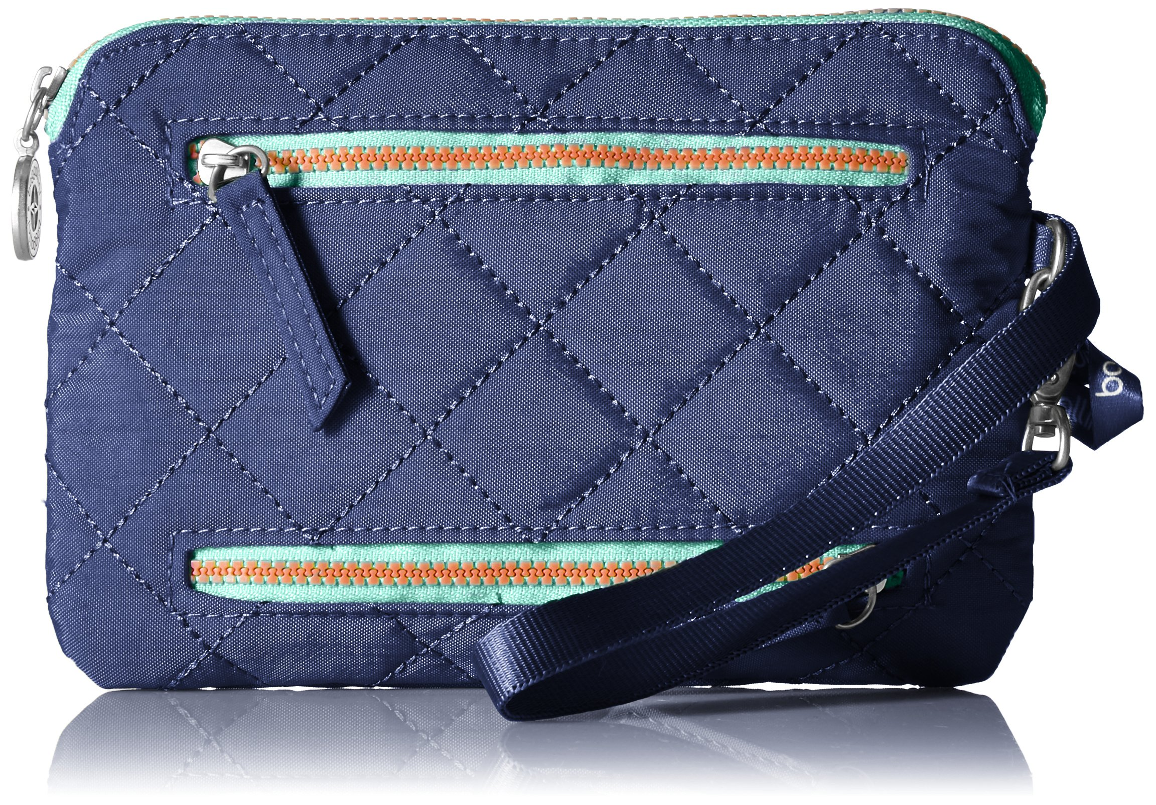 Baggallini Women's RFID Currency & Passport Organizer, royal blue/mint, One Size by BAGGALLINI