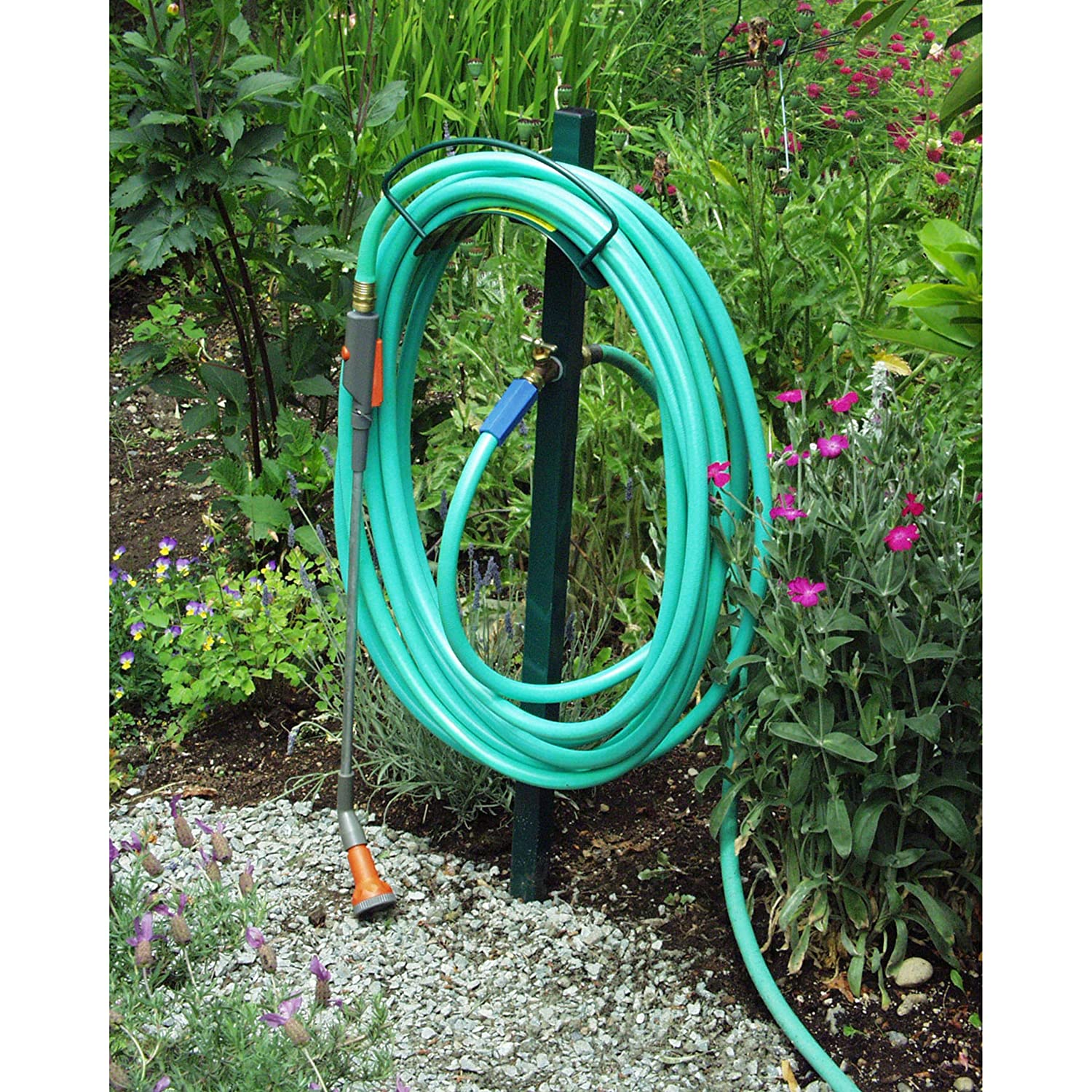 Amazon.com : Yard Butler Lewis Hose Hanger With Faucet 42inx13inx8in : Garden  Hose Parts : Garden U0026 Outdoor