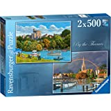 Ravensburger By the Thames 2x 500pc Jigsaw Puzzle