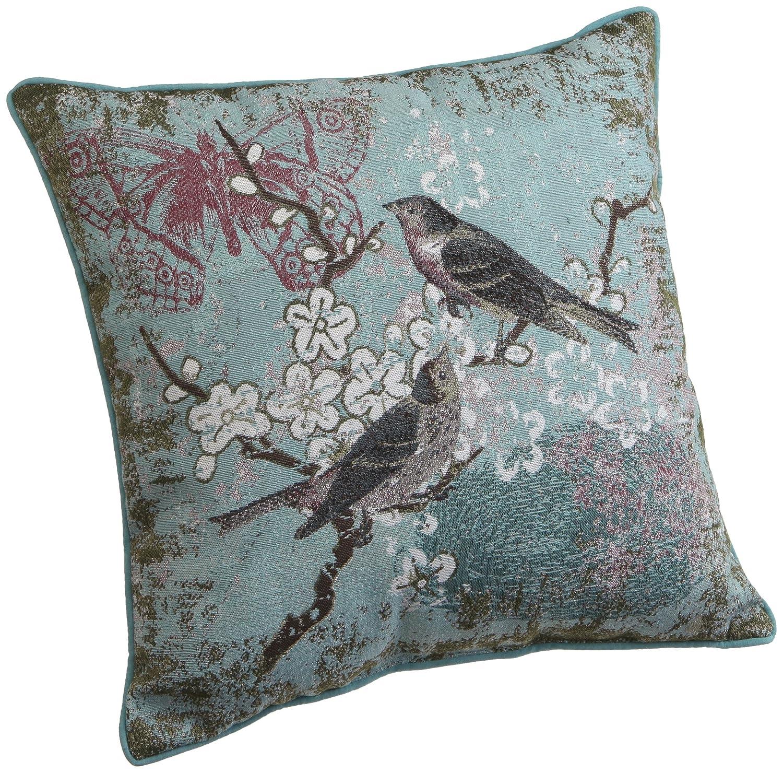 Amazon.com: Brentwood 15-Inch Bird Tapestry Pillow, Blue Bird ...