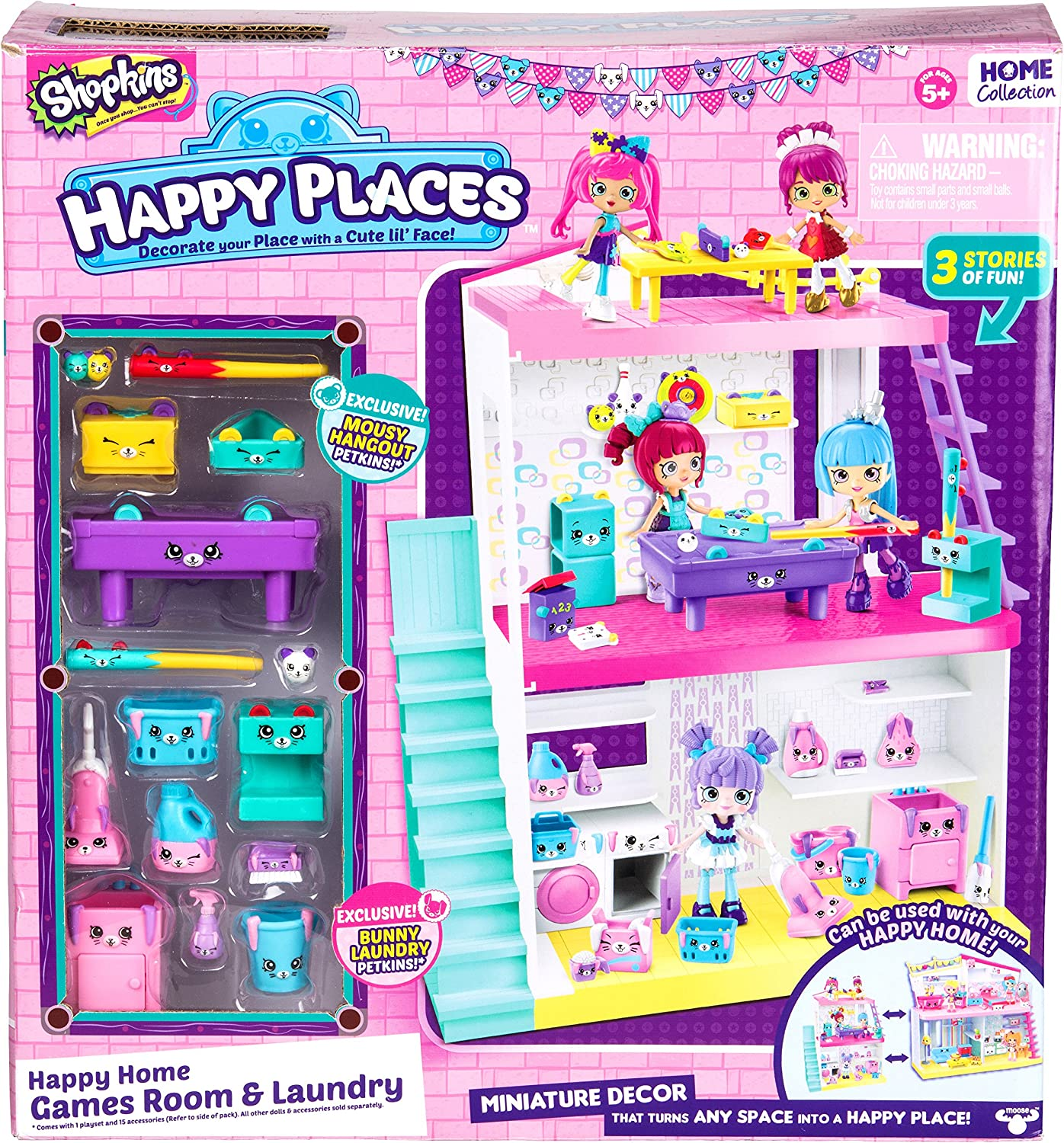 Shopkins Happy Places Home Laundry & Games Room Studio Toy