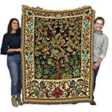Tree of Life - Arts and Crafts - William Morris - Cotton Woven Blanket Throw - Made in The USA (72x54)
