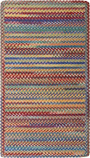 "product image for Capel Rugs Kill Devil Hill Cross Sewn Rectangle Braided Area Rug, 5 x 5"", Bright Multicolor"