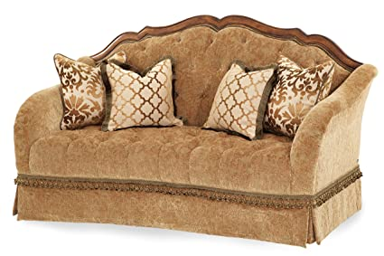 Amazon.com: Michael Amini Villa Valencia Wood Trim Tufted ...