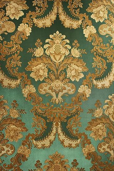 Vinyltapete Tapete Barock Retro Grun Gold Fujia Decoration 22832 Amazon De Baumarkt