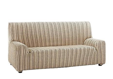 Martina Home Mejico - Funda de sofá elástica, Beige, 3 Plazas, 180 a 240 cm de ancho