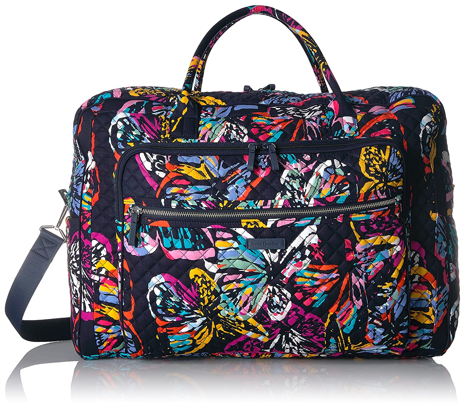 Vera Bradley Iconic Grand Weekender Travel Bag, Signature Cotton Butterfly Flutter 22118-I81