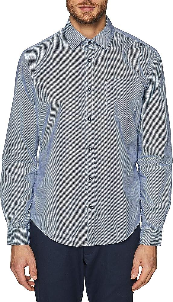 Esprit 019ee2f012 Camisa, Azul (Navy 400), Large para Hombre: Amazon.es: Ropa y accesorios