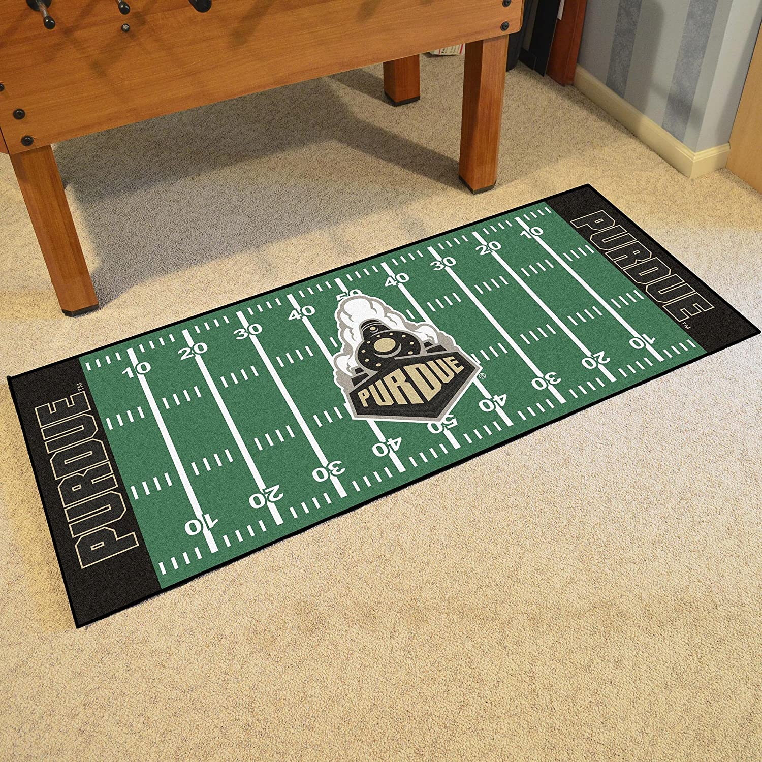 FANMATS NCAA Purdue Boilermakers Football Field Runner One Size Team Color