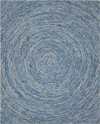 Safavieh Ikat Collection IKT633A Handmade Dark Blue and Multi Premium Wool Area Rug 8 9 x 12