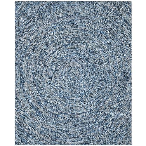 Safavieh Ikat Collection IKT633A Handmade Dark Blue and Multi Premium Wool Area Rug 8 x 10