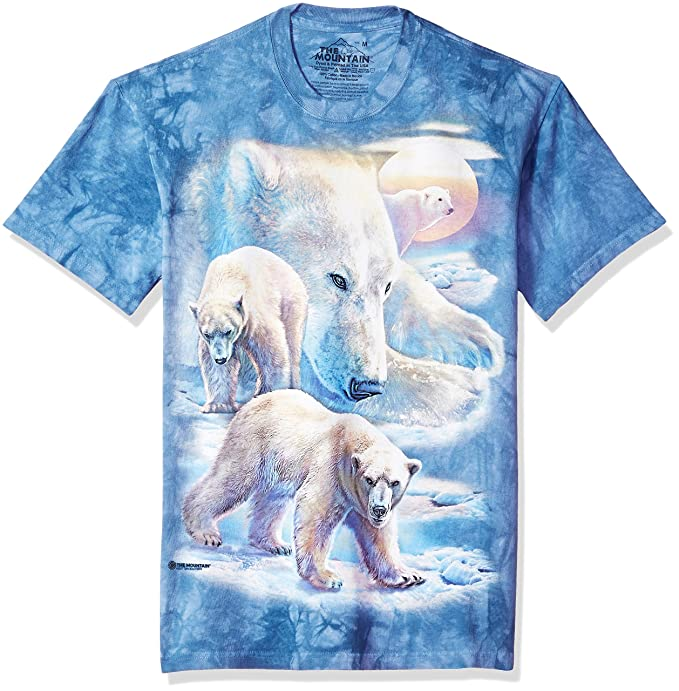 1d567fcb6 Amazon.com: The Mountain Adult Unisex T-Shirt - Sunrise Polar Bear ...