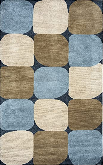 Amazon Com Rizzy Home Colours Collection Wool Area Rug Blue Navy