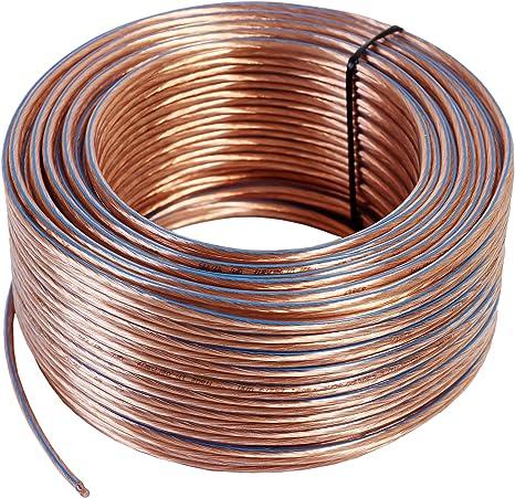 100/% CCS-Kupfer Boxenkabel 10 m Lautsprecher-Kabel 2x 4 mm² rot-schwarz