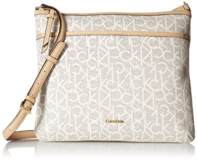 fe522246e6 Calvin Klein Hudson Signature Crossbody Flat Pack: Amazon.co.uk ...