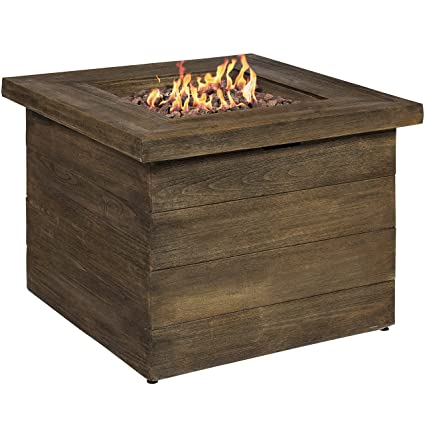 Amazoncom Best Choice Products Outdoor Gas Fire Pit Centerpiece