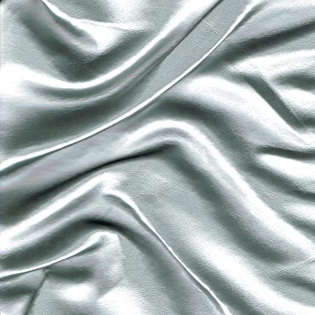 Silver Faux Leather Leatherette Upholstery Fabric Material Fire