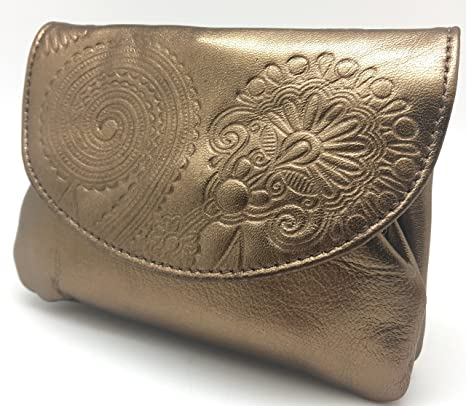Cartera Portamonedas Monedero para Mujer Marca: Lugupell - Color: Oro Viejo (12,