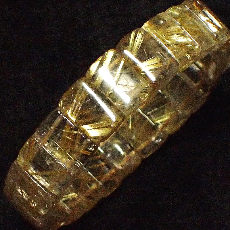 高級天然石 タイチンルチルクォーツ のパワーストーンブレスレット B018ZGUU8W