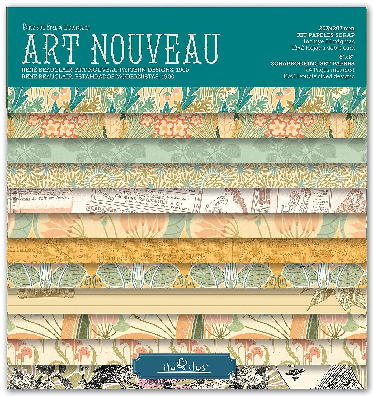 'Scrapbook Art Nouveau–Pad 8