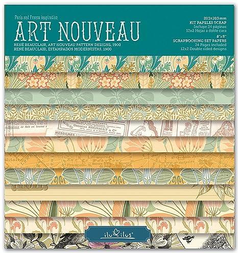 Scrapbook Art Nouveau - Pad 8-203mm // Kit Papeles para Scrapbooking