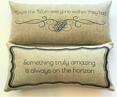 Amazon com: Evelyn Hope Collection for Mom-Mothers Message Pillow