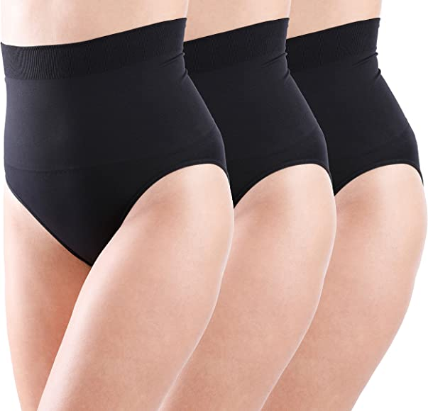 3Pack High Waist Tummy Smoothing Control Shap Underwear Panties Women Shaper