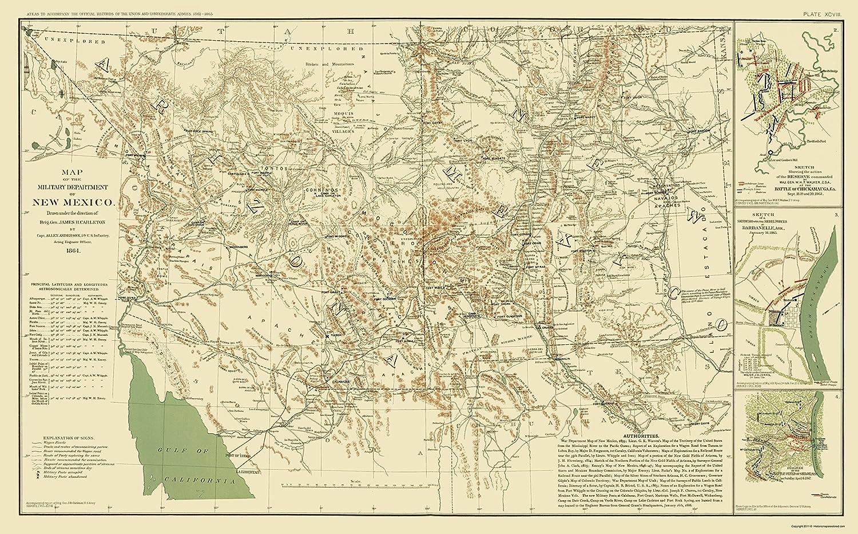 New Mexico Military Department Carleton 1864-23 x 37.01
