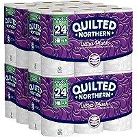 Papel higiénico acolchado de felpa, paquete de 48 rollos dobles (paquetes de 12 rollos), equivalente a 96 rollos regulares, puede variar