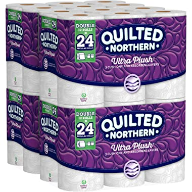 Quilted Northern Ultra Plush Toilet Paper, 48 Double Rolls, 48 = 96 Regular Rolls, 3 Ply Bath Tissue, 4 Pack of 12 Rolls (2 Pack 48 Double Rolls)