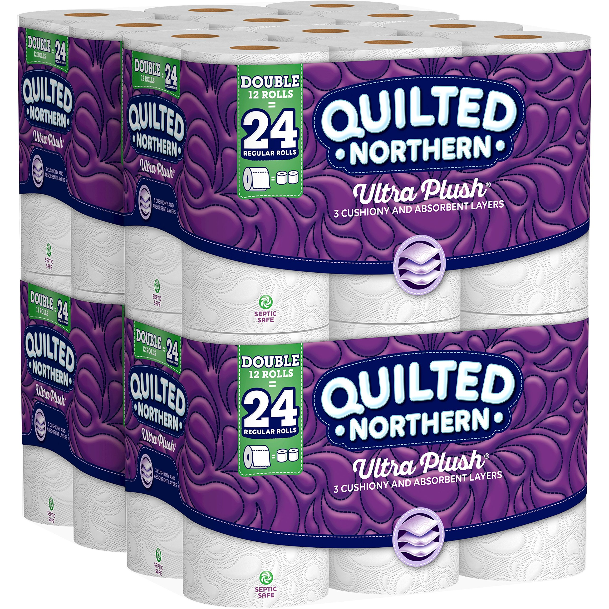 Ultra Plush Toilet Paper, 24 Double Rolls 2 Pack (2 Pack (24 Double Rolls Each))