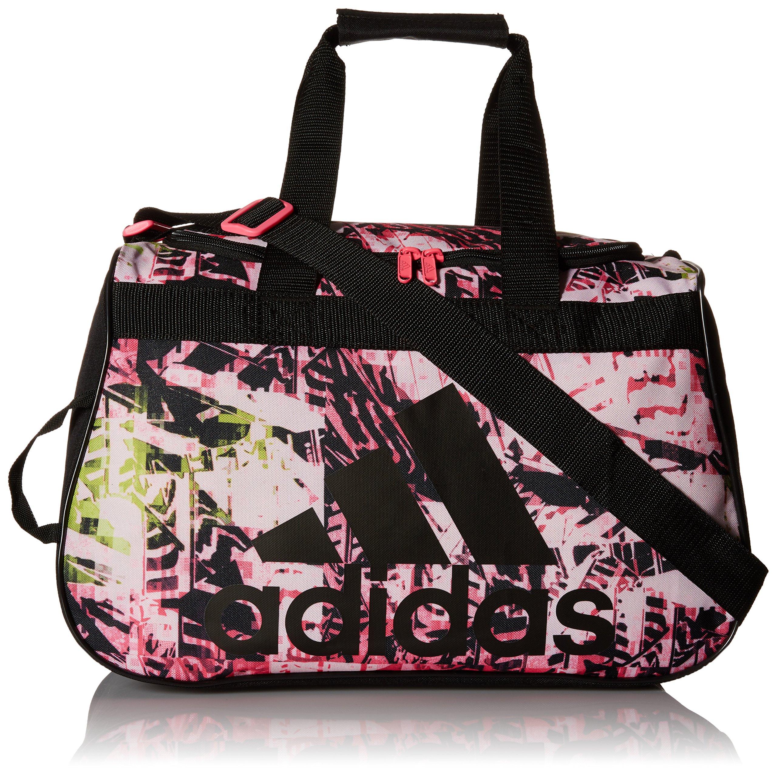 adidas Diablo Small Duffel Bag, Urban Wild Solar Pink/Black, 11 x 18.5 x 10-Inch