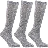 Laulax 3 pares de calcetines de algodón peinado para niñas (3 – 16 años), juego de regalo