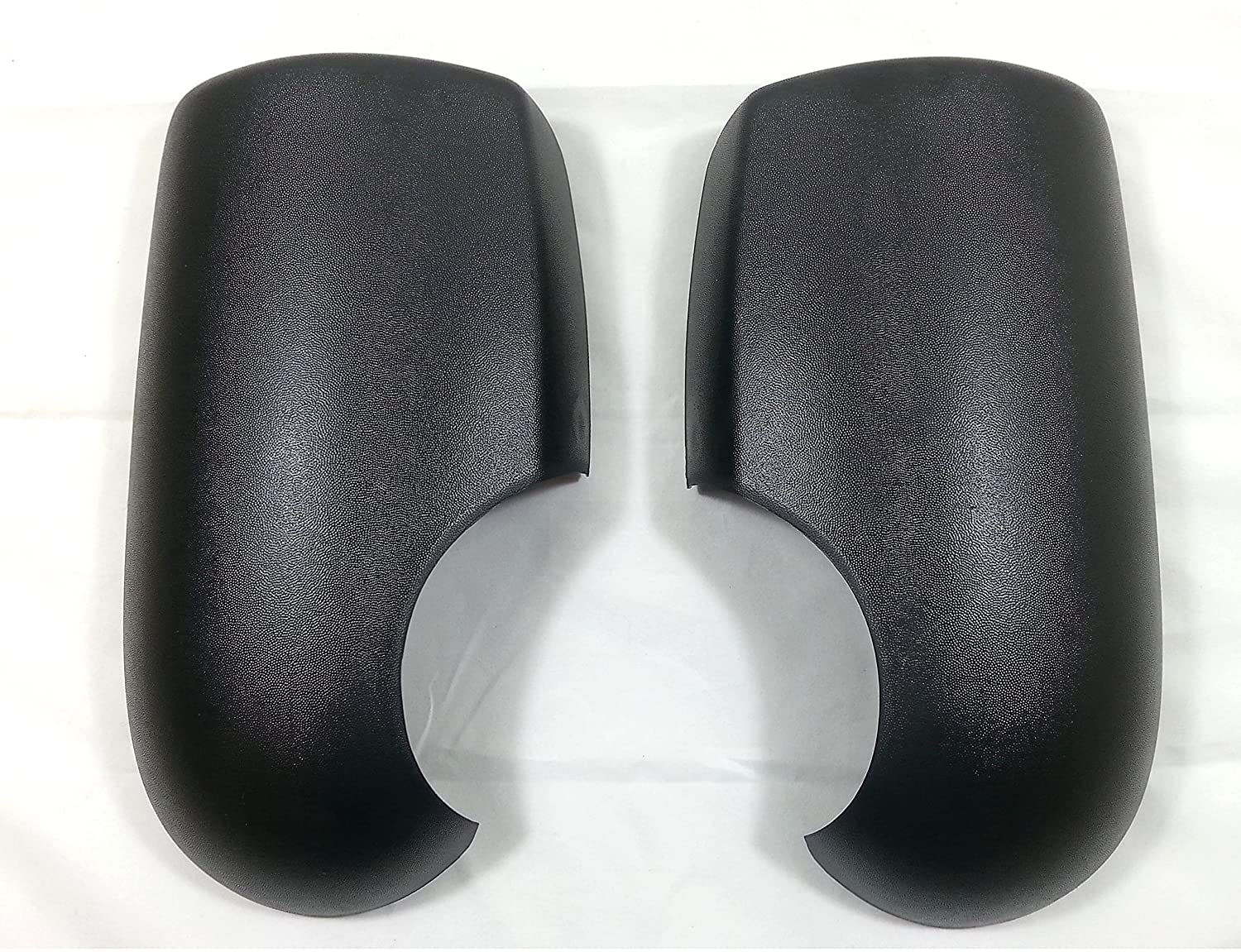 BLACK DOOR WING MIRROR COVERS DRIVER & PASSENGER L+R