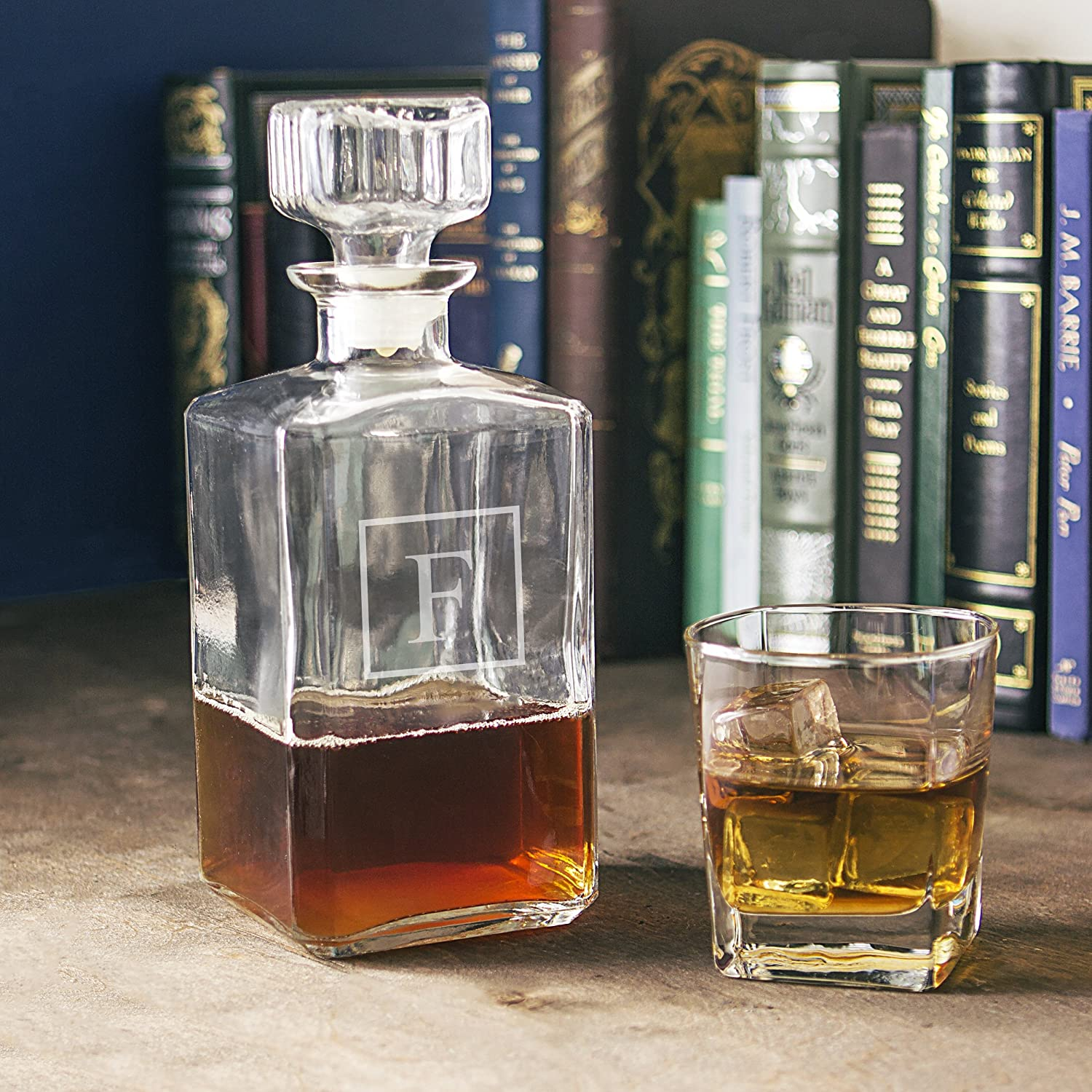Letter H Cathy/'s Concepts 1193-H Cathys Concepts Personalized Whiskey Decanter