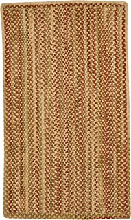 product image for Capel Rugs Manchester Vertical Stripe Rectangle Braided Runner, 2 x 8, Gold Hues
