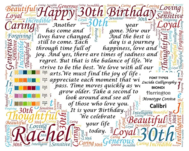 30th Gifts Birthday 30 Decoration