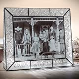 J Devlin Pic 126-81H Stained Glass 8x10 Picture Frame Table Top Photo Frame Vintage Home Decor Keepsake Gift Desktop