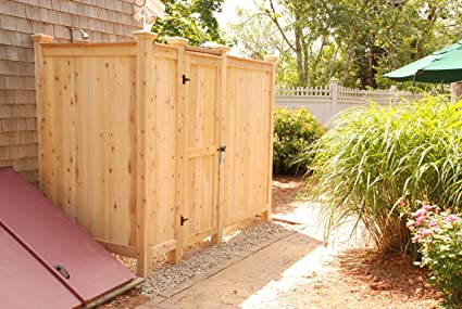 outdoor woodenl enclosure kit designs ideas wooden decors and shower