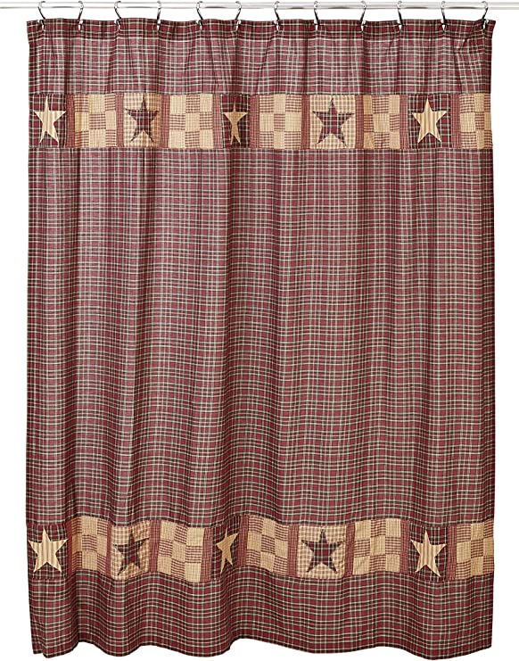 Primitive*** *** BRADFORD STAR Shower Curtain ~ Country