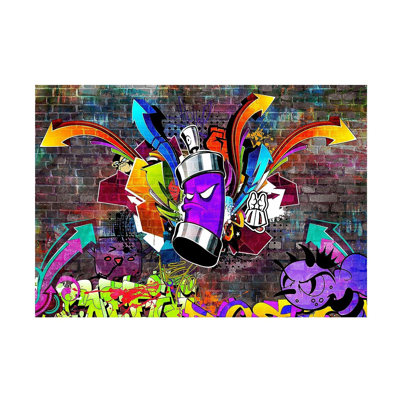 Decomonkey Fototapete selbstklebend Graffiti Jugendzimmer 245x175 cm cm cm XL Selbstklebende Tapeten Wand Fototapeten Tapete Wandtapete klebend Klebefolie Street art B07H5KVTTL Wandtattoos & Wandbilder 295428
