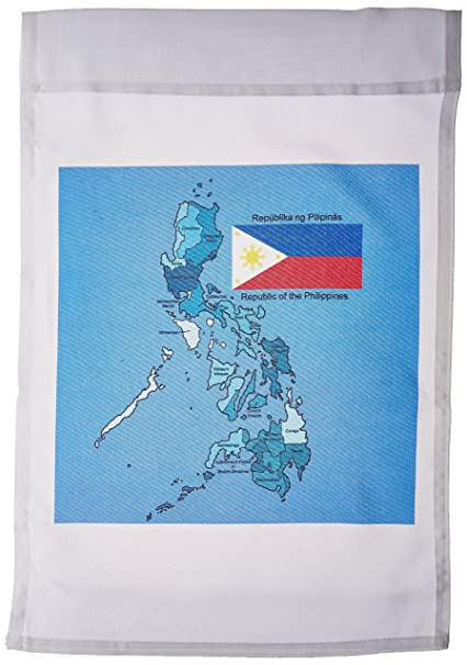 3dRose fl_114186_1 Flag and Map of The Republic of The Philippines on world continents map labeled, latitude and longitude map labeled, 50 states map labeled,