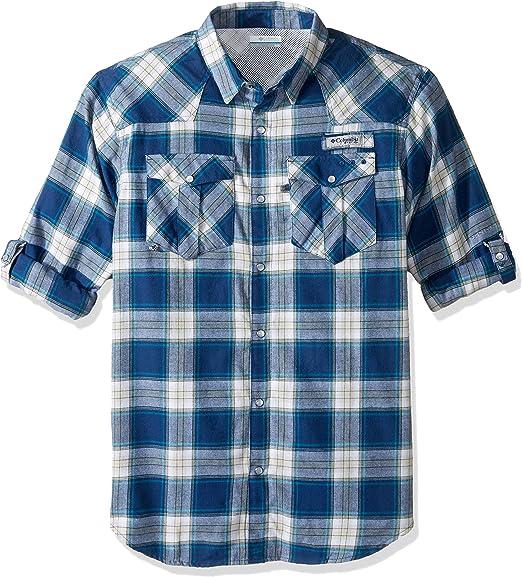 Columbia Mens Bonehead Flannel Long Sleeve Shirt