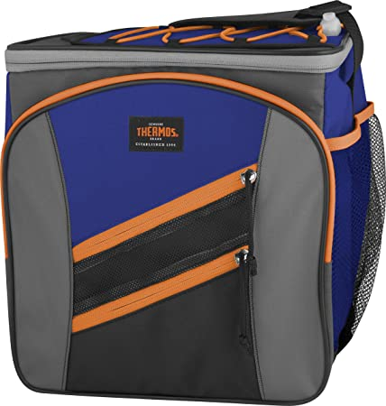 Thermos Highland 24 Can Cooler, Blue Orange